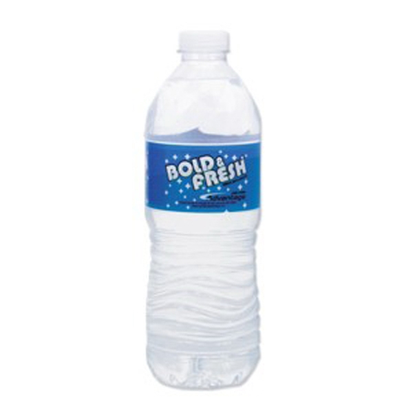 16.9 Oz Water Bottle With Natural Spring Water Photo