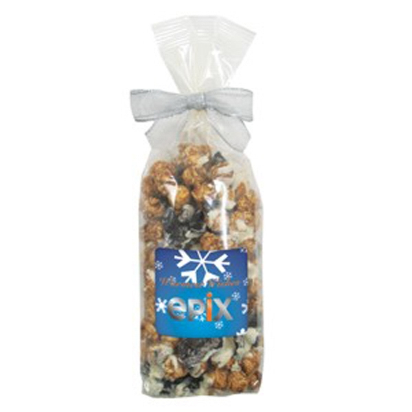 Cookies And Cream - Gourmet Popcorn In A Cello Bag With Bow Photo