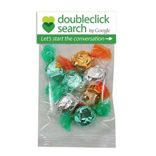 1 Oz Foil Wrapped Hard Candies In A Header Bag Photo