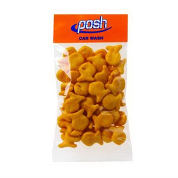 1 Oz Fish Shaped Cheddar Crackers In A Header Bag Photo