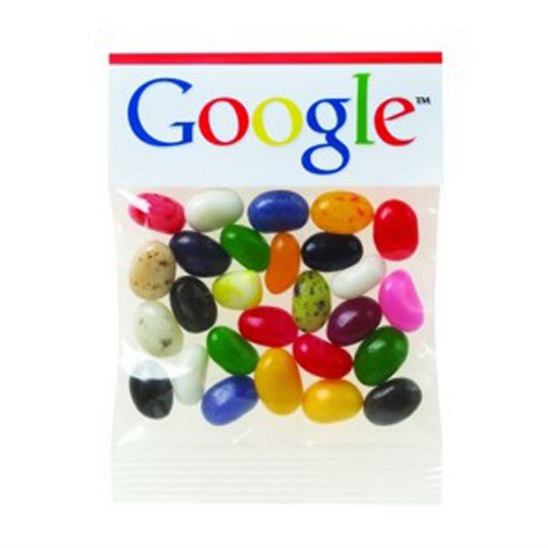 1 Oz Gourmet Jelly Beans In A Header Bag Photo