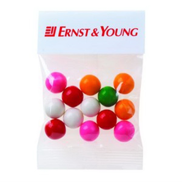 1 Oz Gumballs In A Header Bag Photo