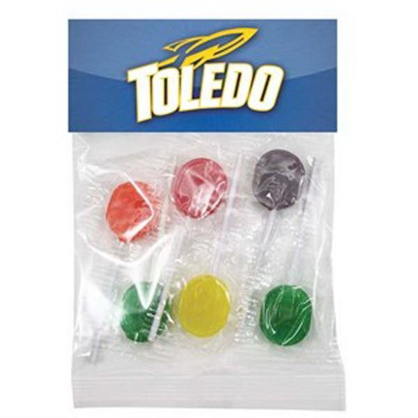 Lollipops In A Header Bag. 6 Pieces Photo