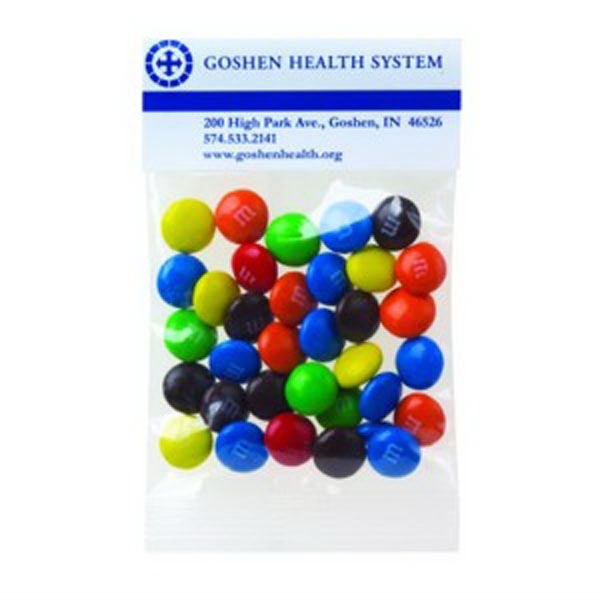 1 Oz Candy Coated Plain Chocolate Candies In A Header Bag Photo