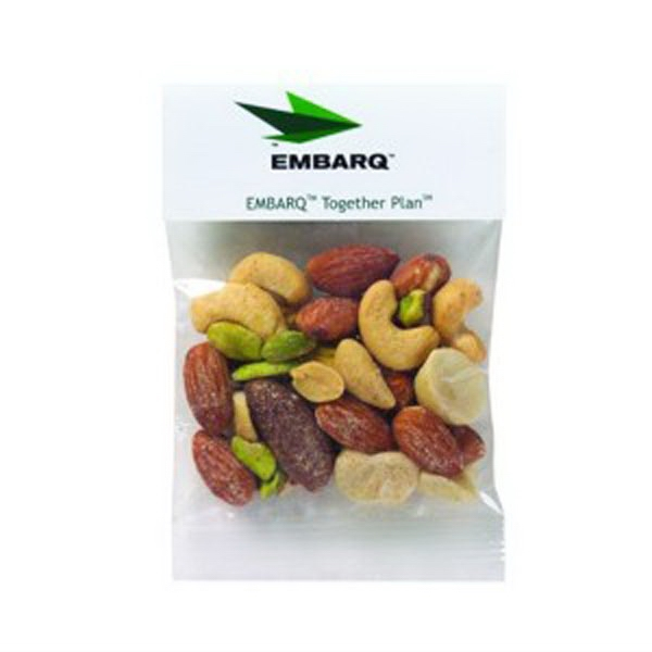 1 Oz Mixed Nuts In A Header Bag Photo