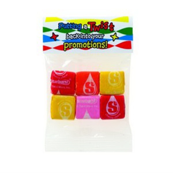 Starburst (r) - 1 Oz Cuboid Shaped, Fruit Flavored Soft Taffy Candy In A Header Bag Photo