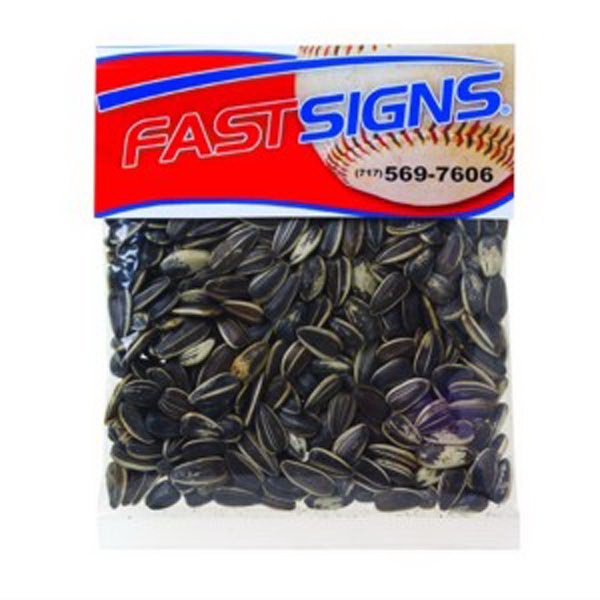 2 Oz Sunflower Seeds In The Shell In A Header Bag Photo