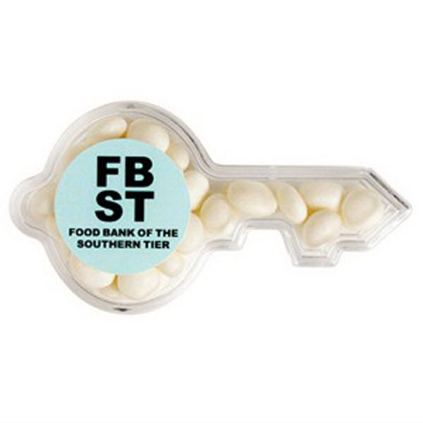 White Mints In A Key Shaped Container Photo