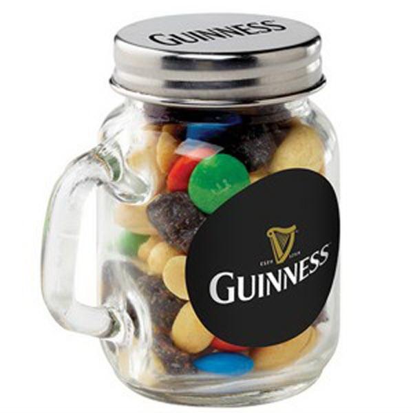 Glass Mason Jar / Party Mix