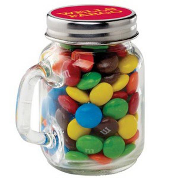 Glass Mason Jar / M&Ms®