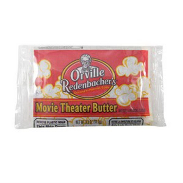Microwave Popcorn In A Orville Redenbacher's (r) Bag. Blank Photo