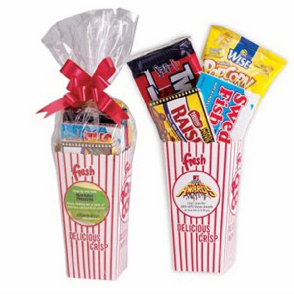 Movie Snack Box with Cello Bag & Bow
