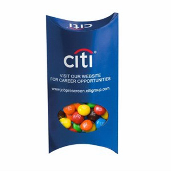 Pillow Box with Window / M&Ms®