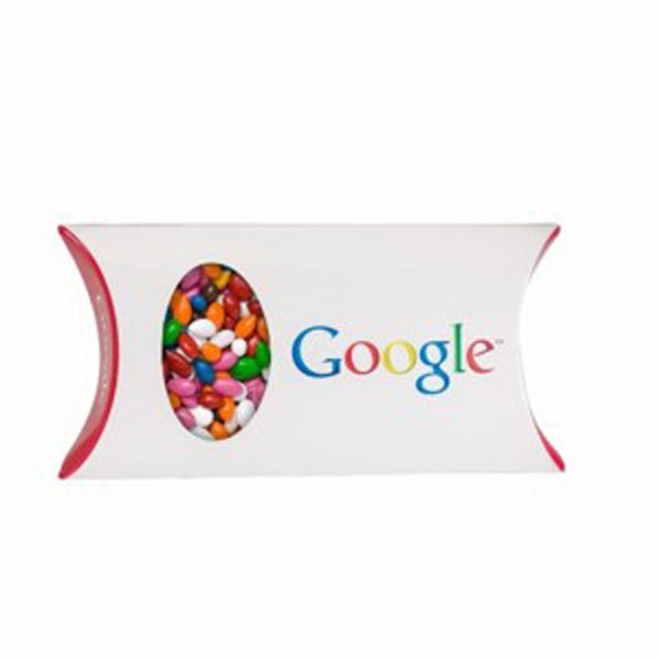 Pillow Box with Window / Chocolate Covered Sunflower Seeds