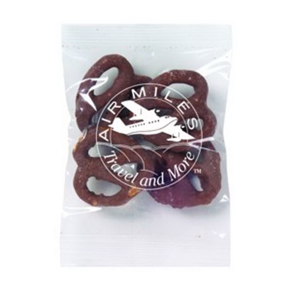 Promo Snax - 1/2 Oz - Chocolate Covered Pretzels In A Cello Bag Photo