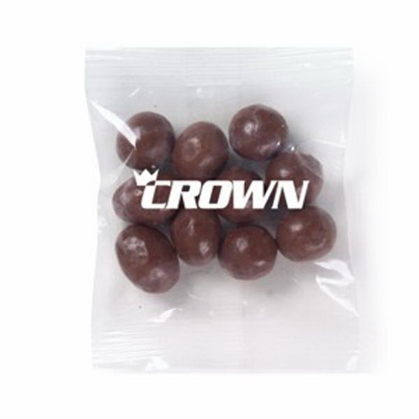 Promo Snax - 1 Oz - Chocolate Covered Raisins In A Cello Bag Photo