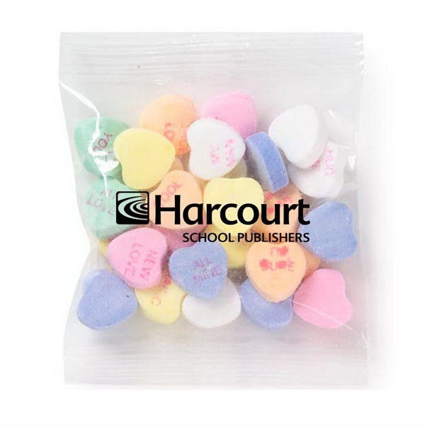 Promo Snax - 1 Oz - Conversation Heart Shape Candy In Cello Bag Photo