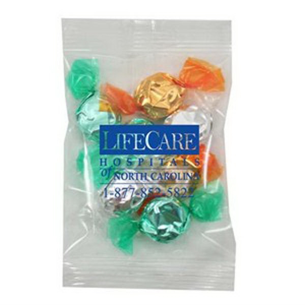Promo Snax - 1 Oz - Foil Wrapped Hard Candy In A Cello Bag Photo