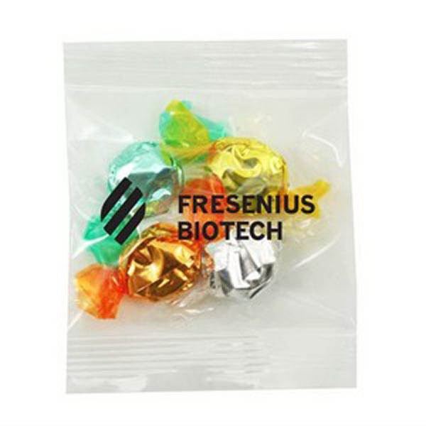 Promo Snax - 1/2 Oz - Foil Wrapped Hard Candy In A Cello Bag Photo