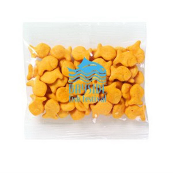 Promo Snax Goldfish Crackers (r) - 1 Oz - Fish Shaped Cheddar Flavor Crackers In Cello Bag Photo