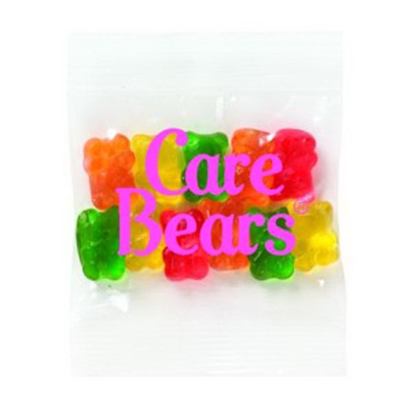Promo Snax - 1 Oz - Assorted Gummy Bears Candy In A Cello Bag Photo