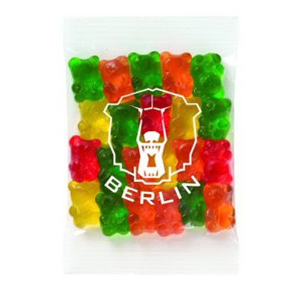 Promo Snax - 1 1/2 Oz - Assorted Gummy Bears Candy In A Cello Bag Photo