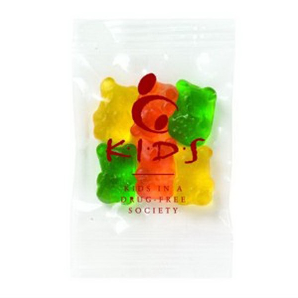 Promo Snax - 1/2 Oz - Assorted Gummy Bears Candy In A Cello Bag Photo