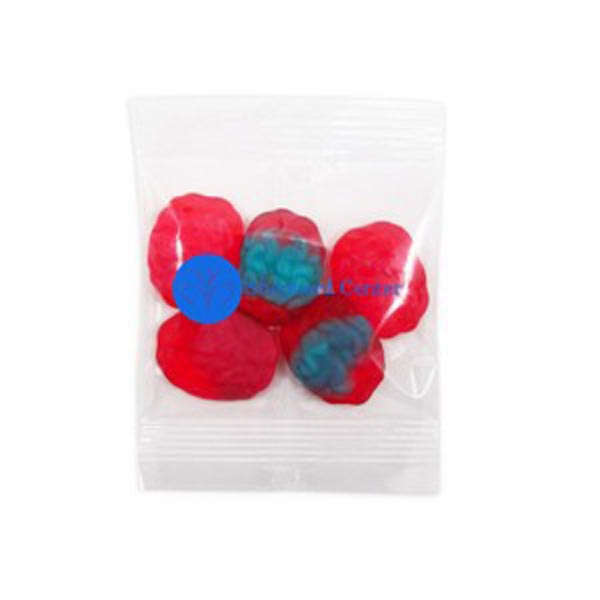 Promo Snax - 1 Oz - Gummy Brains Candy In A Cello Bag Photo