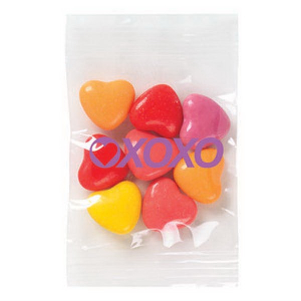 Promo Snax - 1/2 Oz - Crazy Heart Candy In A Cello Bag Photo