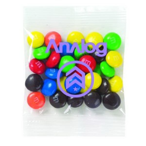 Promo Snax (r) M&m's (r) - 1 Oz - Candy Coated Plain Chocolate Candies In Cello Bag Photo