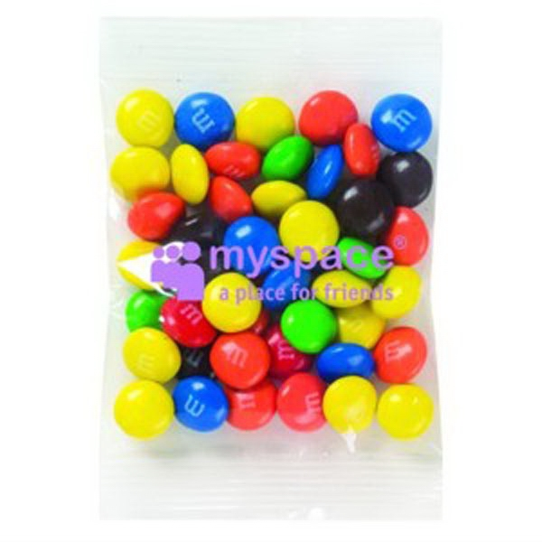 Promo Snax (r) M&m's (r) - 1 1/2 Oz - Candy Coated Plain Chocolate Candies In Cello Bag Photo