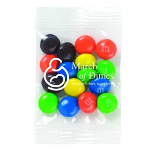 Promo Snax (r) M&m's (r) - 1/2 Oz - Candy Coated Plain Chocolate Candies In Cello Bag Photo