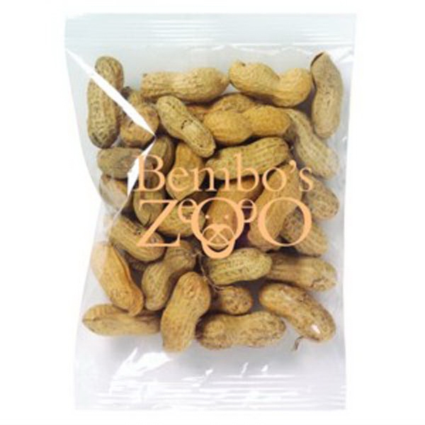 Promo Snax - 3 Oz - Peanuts In The Shell In Cello Bag Photo