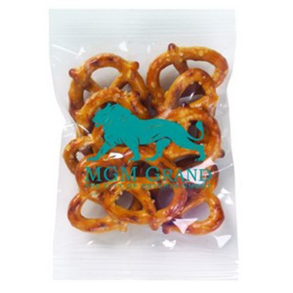 Promo Snax - 1/2 Oz - Mini Pretzels In Cello Bag Photo