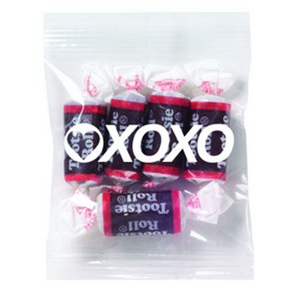 Promo Snax Tootsie Rolls (r) - 1 Oz - Chewy Chocolate Rolls In Cello Bag Photo