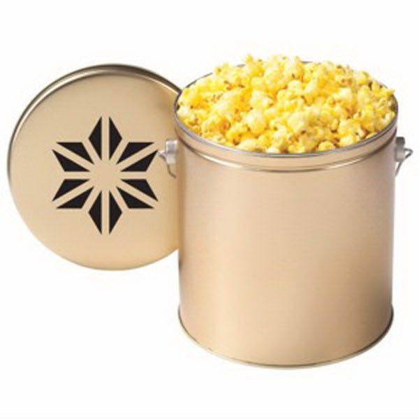 Butter Popcorn In A One Gallon Tin With Handle Photo