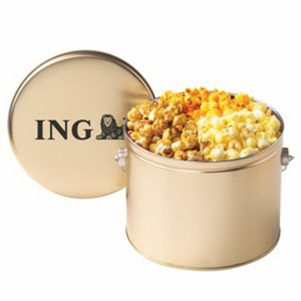 Three Way Popcorn In 1/2 Gallon Tin With Handle Photo