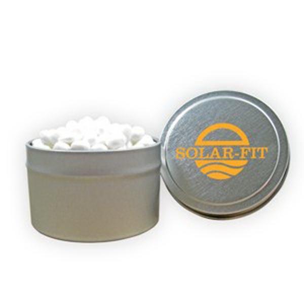 1/8 Quart Round Tin / White Mints