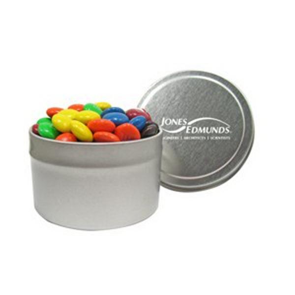 1/8 Quart Round Tin / Candy Coated Chocolate