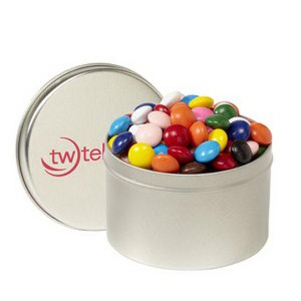 1/4 Quart Round Tin / Chocolate Buttons