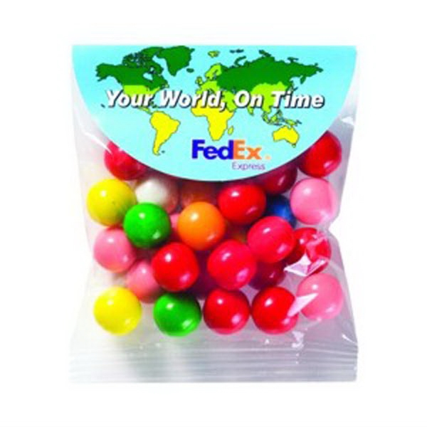 1.1 Oz - Gumballs In A Bag With Round Top Header Card Photo