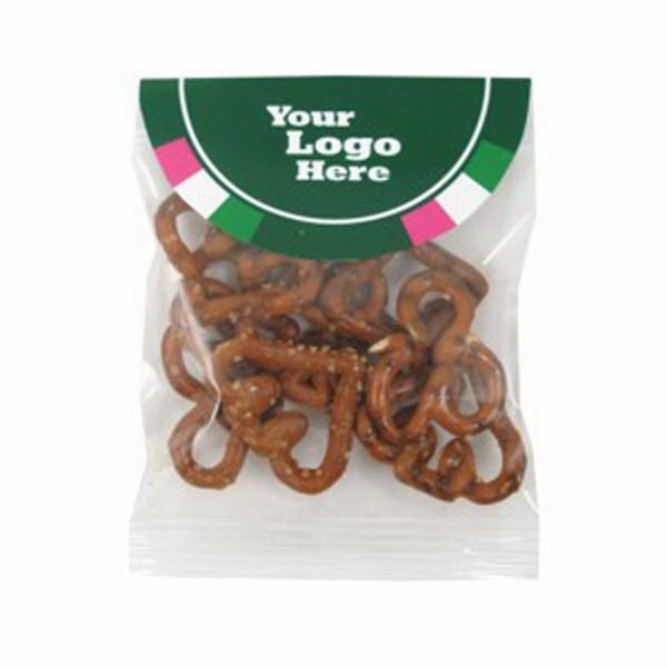 .5 Oz - Poker Pretzels In A Header Bag With Round Top Photo