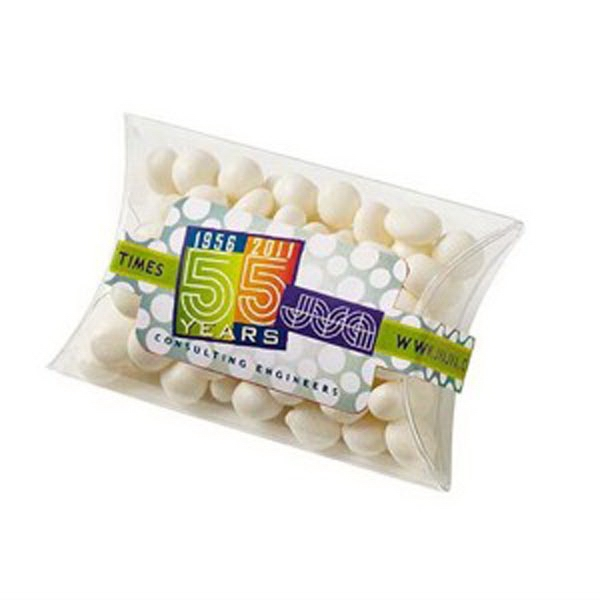 "White Mints In A 2.875"" X .827"" X 2"" Pillow Case Shaped Container Photo"