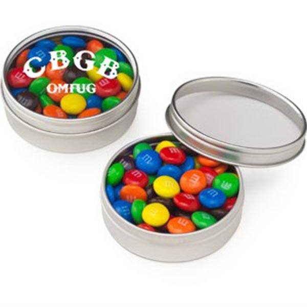 Small Round Window Tin / Candy Coated Chocolate