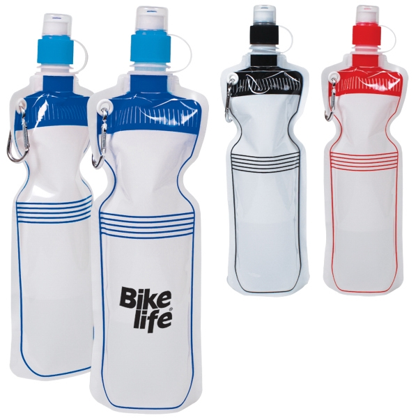 18oz (532 Ml 0 Reusable Bpa-free Flat Folding Water Bottle Photo