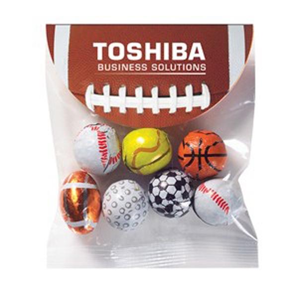 Header Bag with Round Top / Chocolate Sport Balls