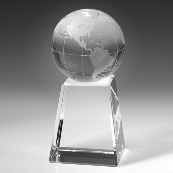 """Award-Globe w/ Tall Base 5"""""""
