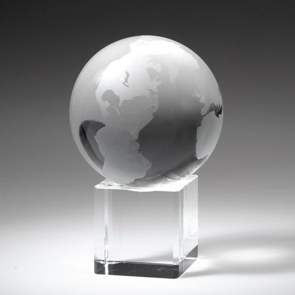 Award- Crystal Globe on Cube