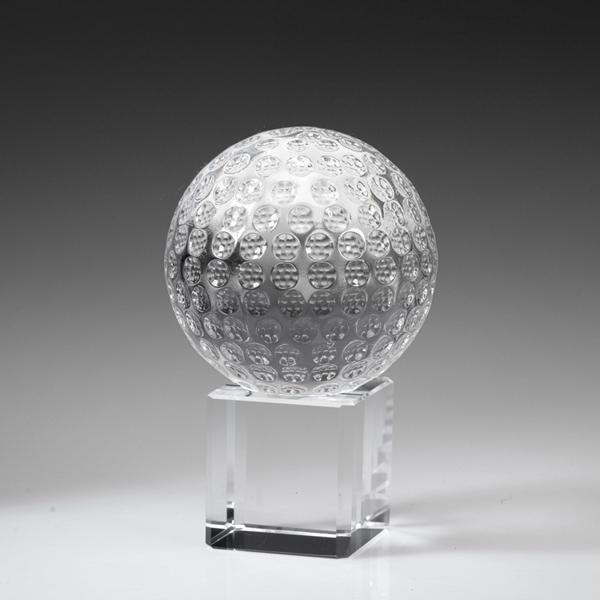 """Award-Golf Ball on Cube 3 3/8"""""""