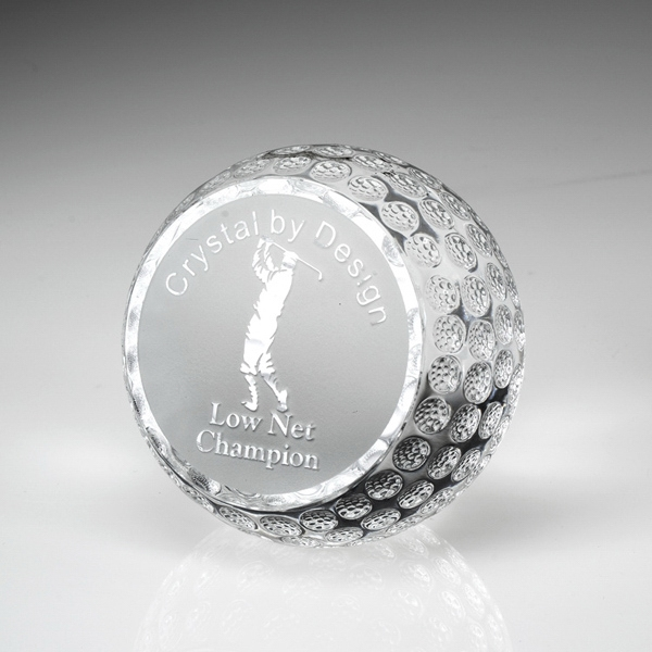 """Award-Standing Golf Ball 3"""""""